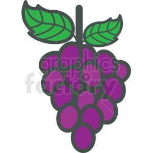 grapes vector icon . Royalty.