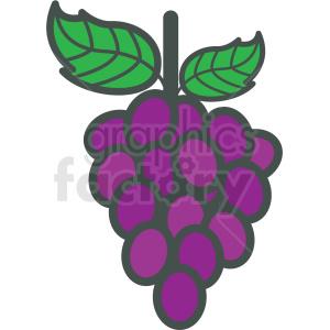 grapes vector icon . Royalty.