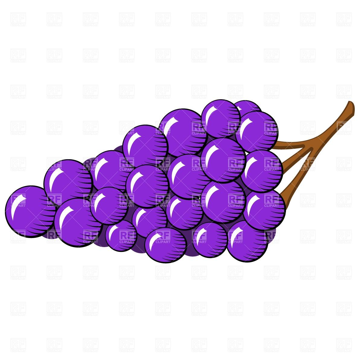 Grapes Clipart Vector.