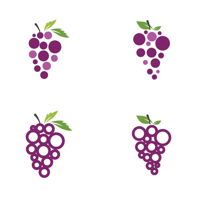 Grapes Vector Icon Illustration Design, Grape, Vector, Leaf PNG and.