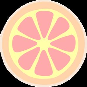 Grapefruit Slice Clip Art at Clker.com.