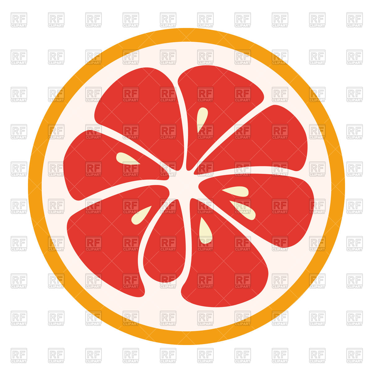 Red grapefruit icon Vector Image #101414.