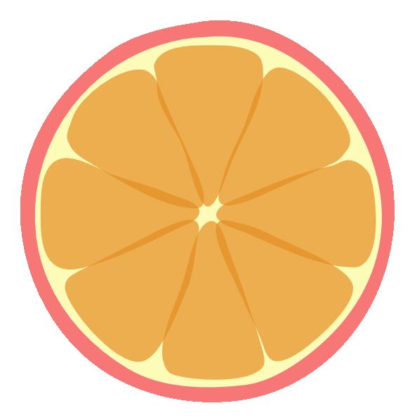 Pink Tangerine Bigger Sections Clip Art at Clker.com.
