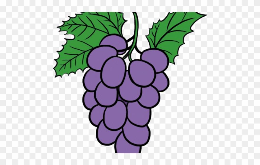 Grapes Clipart Pop Art.