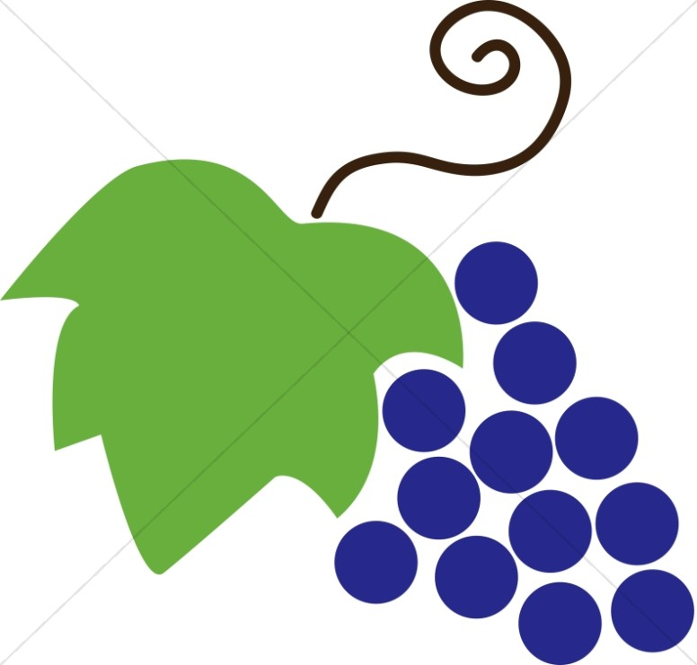 Grapes and Leaf.