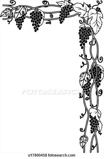Clip Art of Grape Vines u17800458.