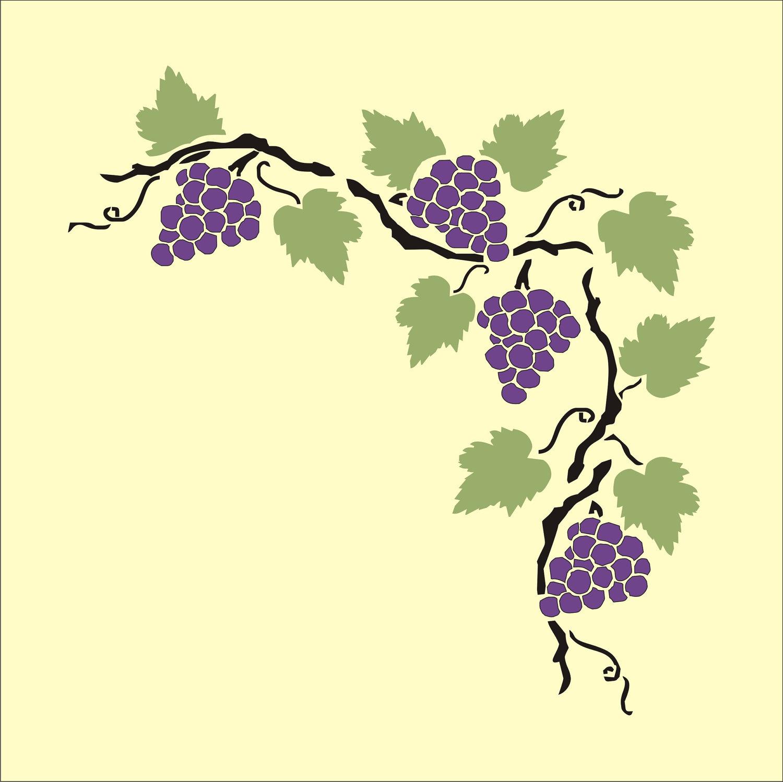 Transparent grape vines clipart.