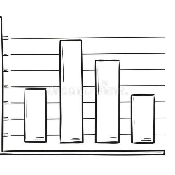 Sketch Of The Bar Chart Stock Vector. Illustration Of.