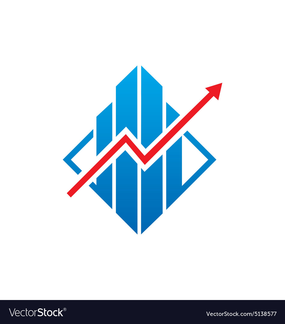Graph arrow business finance logo.