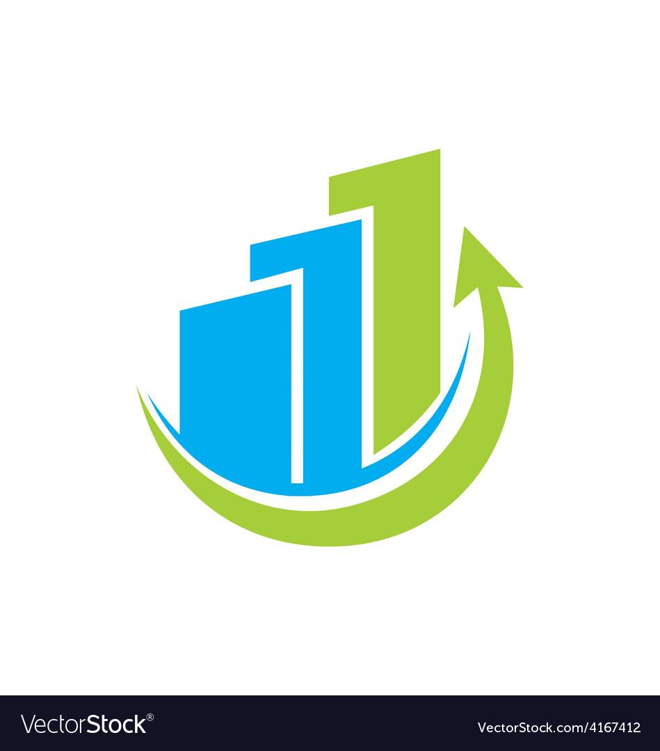 Business finance graph logo.
