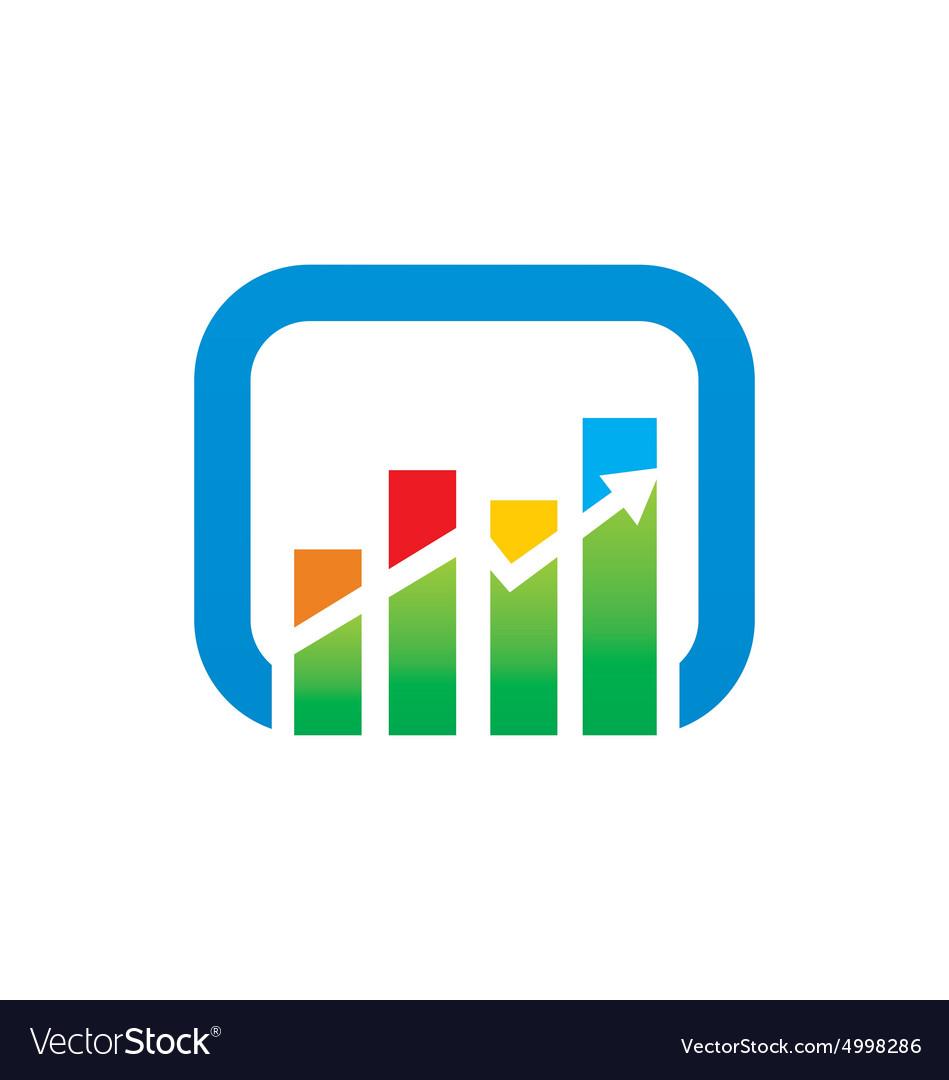 Graph arrow color finance logo.