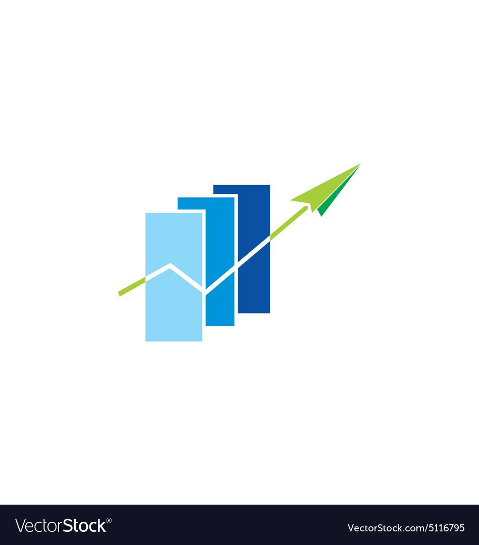 Business finance graph arrow logo.