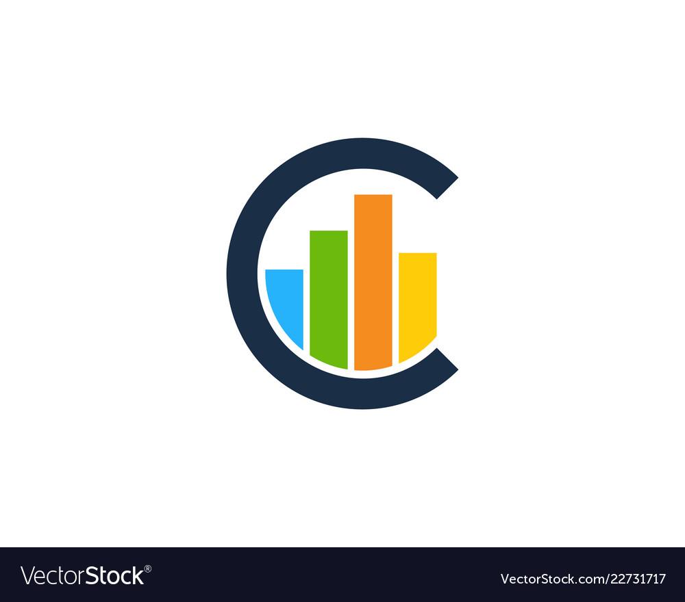 Graph letter c logo icon design.
