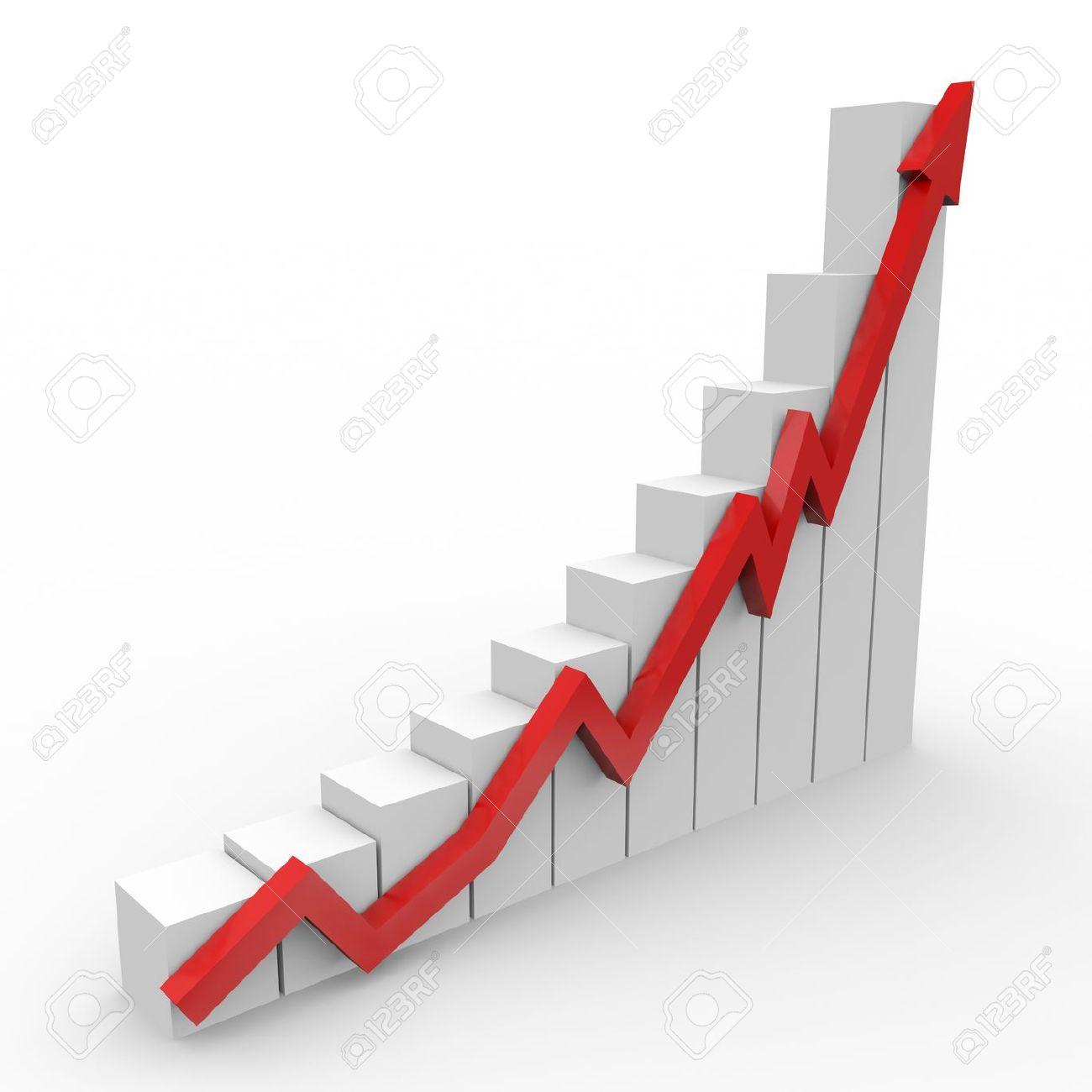 Increase graph clipart.