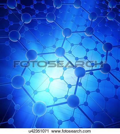 "Clipart of ""Graphene atomic structure, illustration"" u42351071."