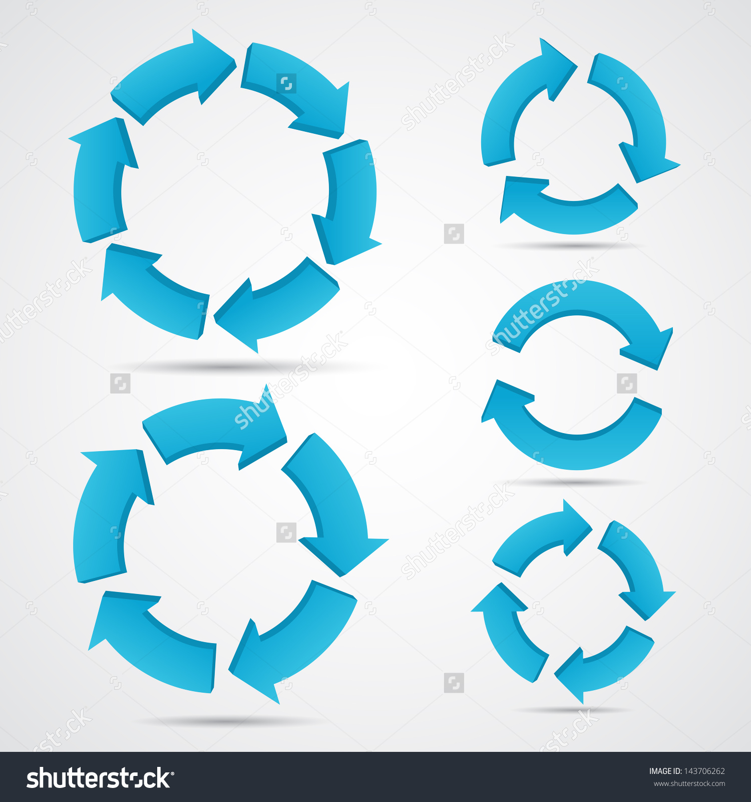 Circle Arrows Set Info Graphic Raster Stock Illustration 143706262.