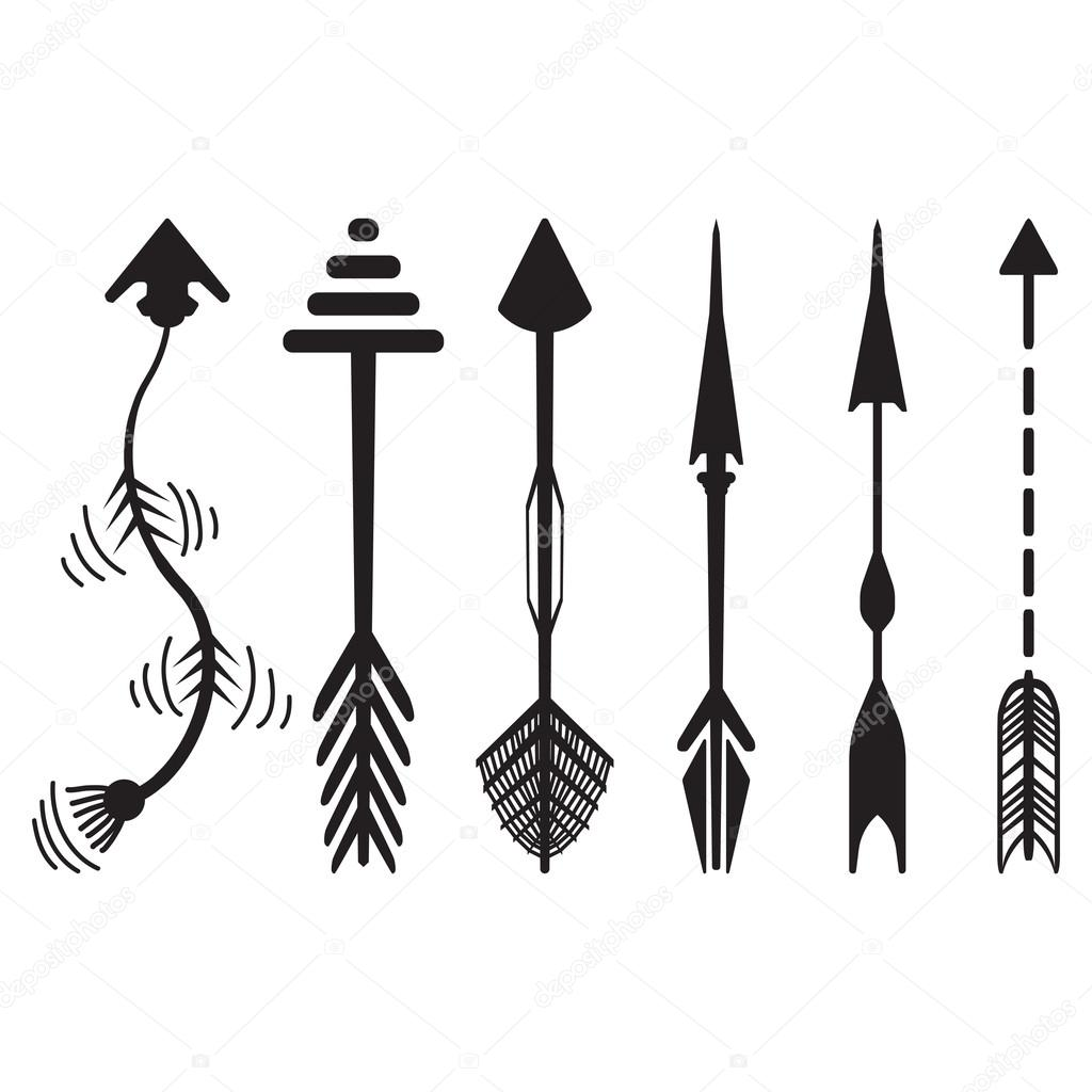 Hand drawn arrows graphic set — Stock Vector © AVD_88 #77683586.
