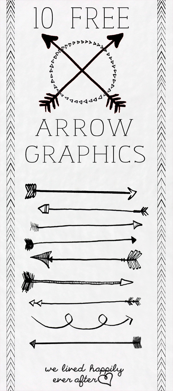 We Lived Happily Ever After: 10 Free Arrow PNG Graphics.