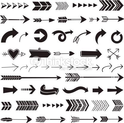 Hand Drawn Graphic Arrows Vector Art.