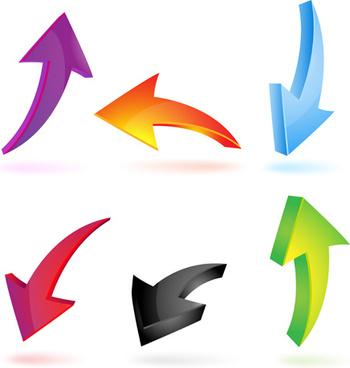 Free Color Arrows Vector Free vector in Encapsulated PostScript.