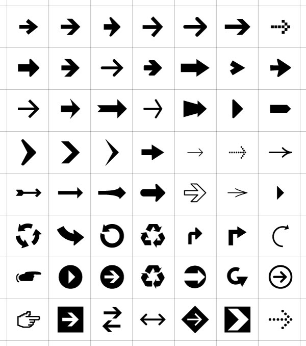 350+ Free Graphics: Vector Arrow Symbols and Shapes.