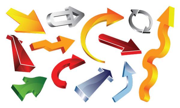 350+ Free Graphics: Vector Arrow Symbols and Shapes.