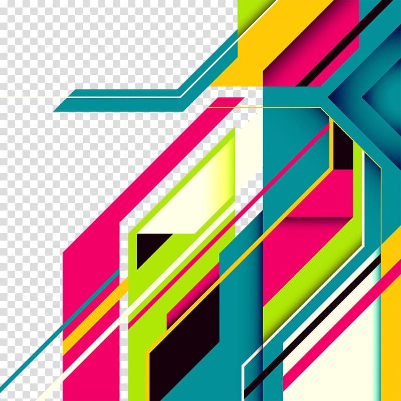 Multicolored abstract graphic background illustration, Line Graphic.