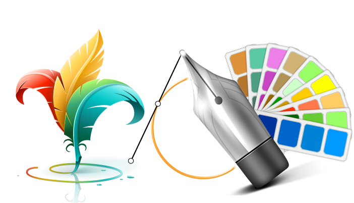Graphic design Web banner.