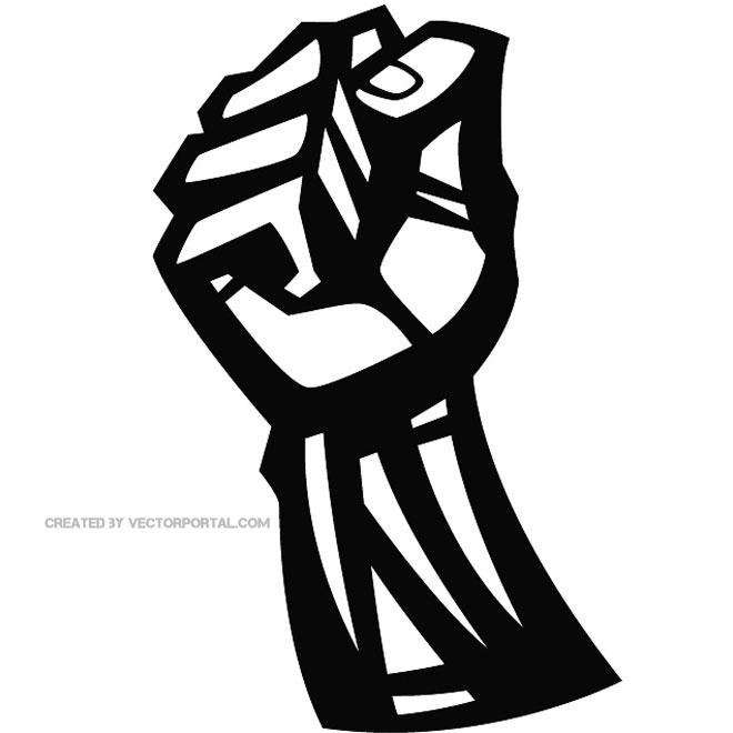 Fist Graphic Clip Art Free Vector.