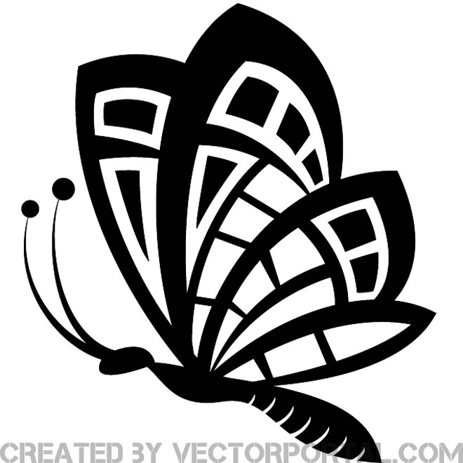 Butterfly Clip Art Graphics Free Vector.