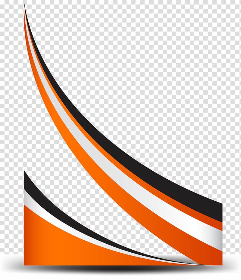 Curve Line, Orange simple curve border, red, white, and.