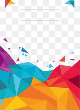 2019 的 Color Low Polygon Poster Cover, Vector Png, Colour, Color.