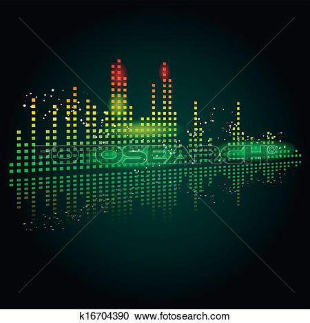 Clipart of Graphic equalizer k2484601.