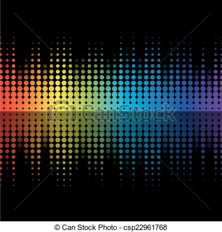 Clip Art Vector of Color graphic equalizer.