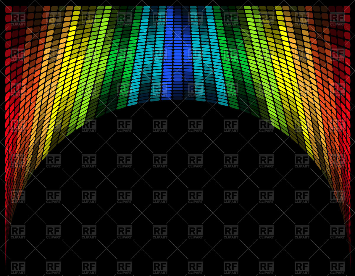 Abstract arched multicolored graphic equalizer Vector Image #41689.