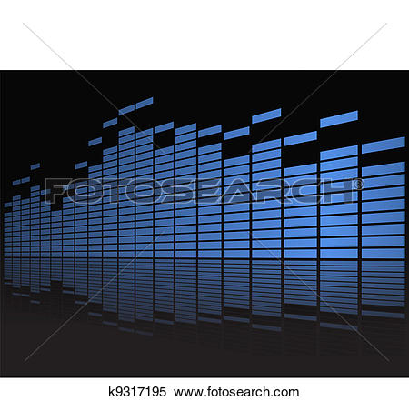 Clipart of Graphic equalizer in perspective k9317195.