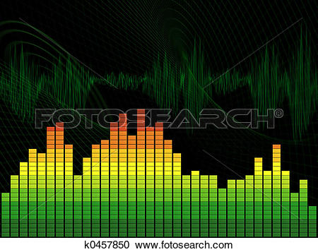 Stock Illustrations of Graphic equalizer k0457850.