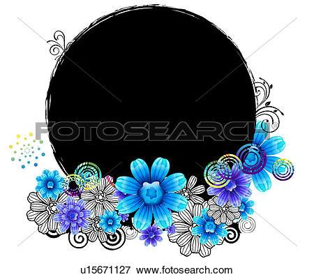 Stock Illustration of Oval Shape with flora design u15671127.