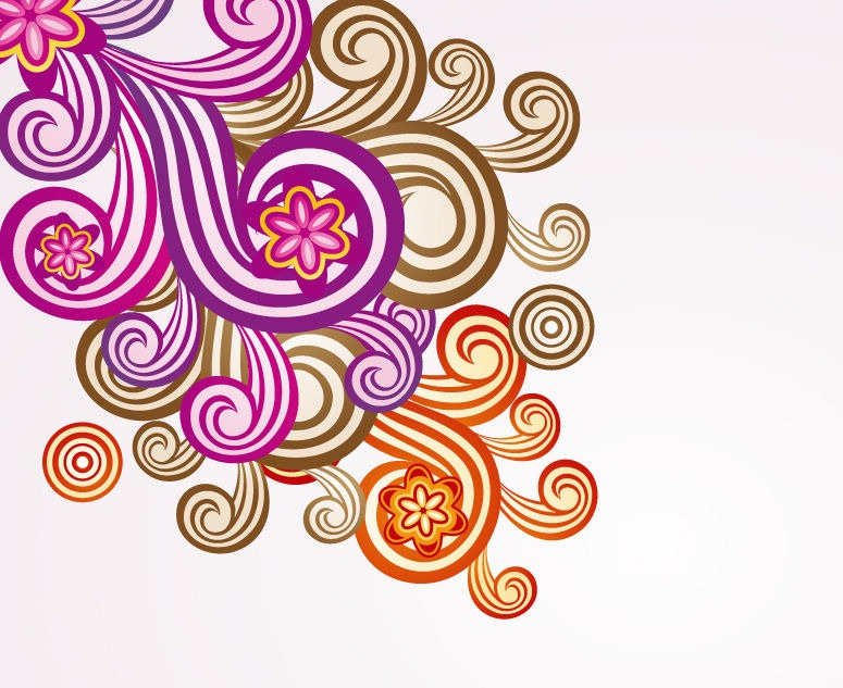 Floral Ornament Vector Art.