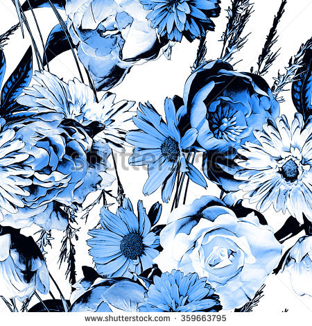 Black And White Floral Pattern Stock Images, Royalty.