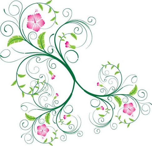 Graphic Flower Designs.
