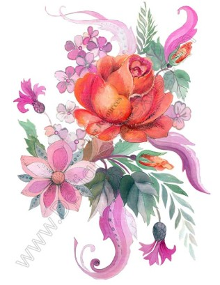 V16 Free Rose Graphic Flower Bouquet Clip Art.
