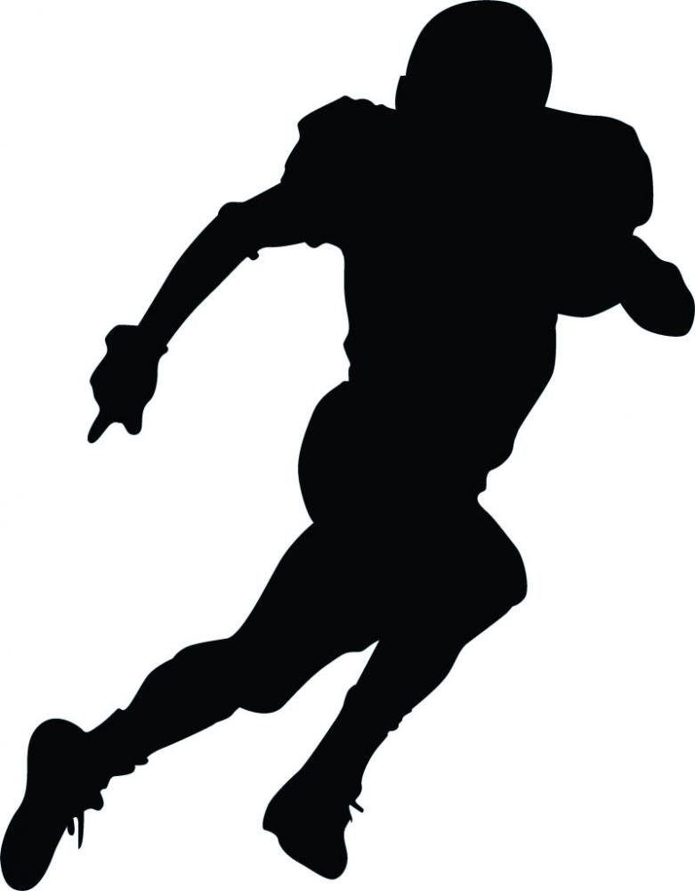 Football Player Graphic.