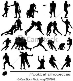Football Player Outline Clipart.