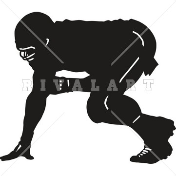 Clipart Sports Image of a Football Player Graphic.
