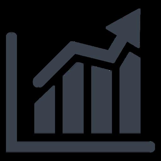 Marketing graph icon.