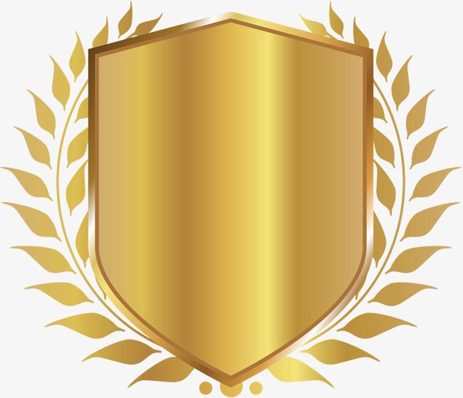 Golden Shield Badge, Shield Clipart, Fast, Shield PNG.