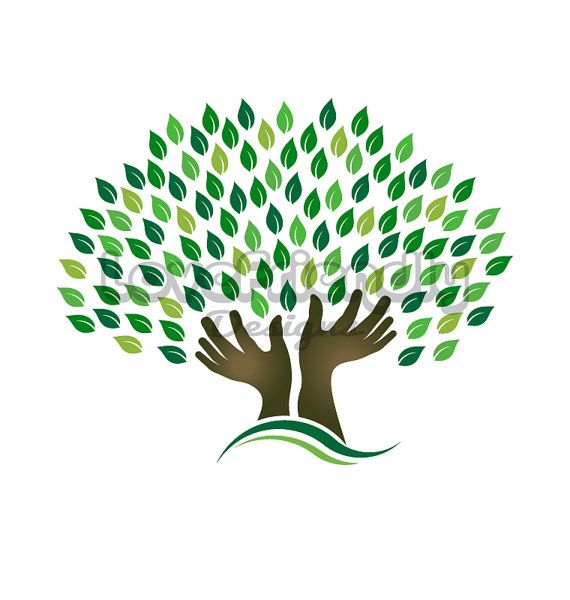 Clip Art to Print or Web, Hands Tree.
