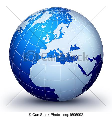 Clip Art of WorLd GloBe EvoLuTion.