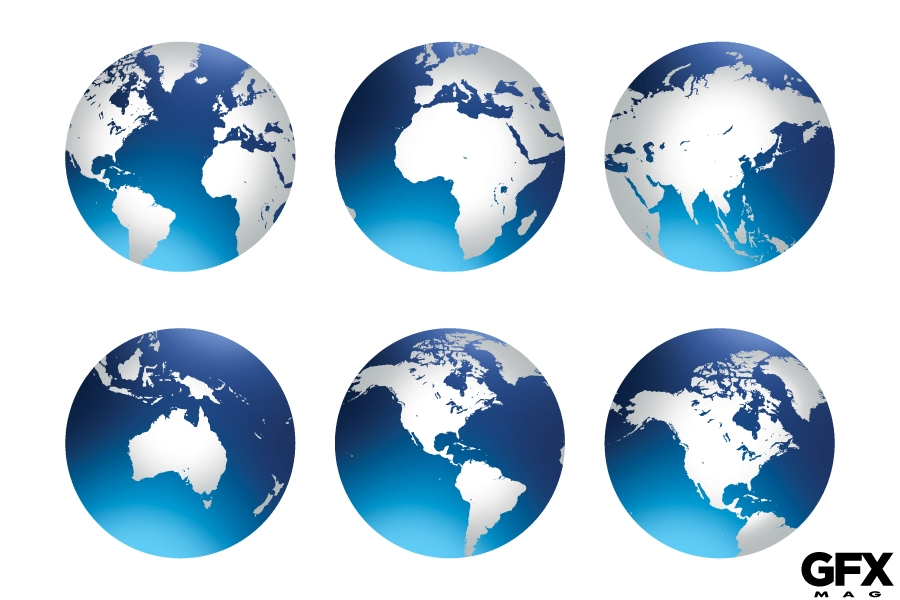 Free Vector World Globe Earth Icon Clip Art Graphic.